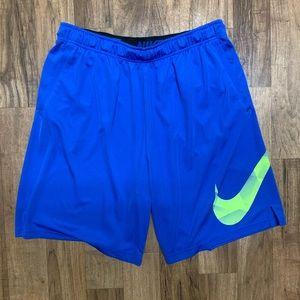 Nike Dri Fit Basketball Shorts Blue Green XXLT